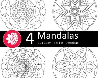 Mandalas to the coloring pages, download
