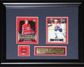 Guy Lafleur Montreal Canadiens NHL 2 card hockey frame