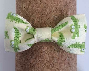 Little Boy Alligator Bow Tie Adjustable Closure Handmade Bow Tie Cotton Fabric Bow Tie Toddler Bow Tie Baby Bow Tie