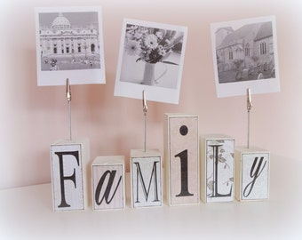 Family photo holder blocks