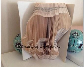 Book folding pattern Tiger