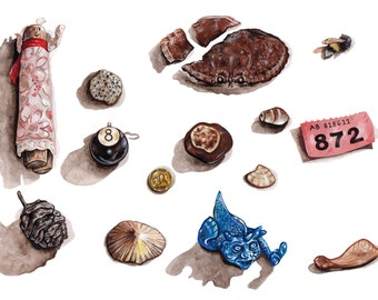 Lost and Found - Object collection Giclee print
