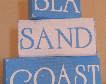 Sea, Sand, Coast Wooden Block Set