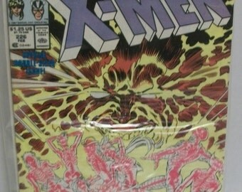 Uncanny X-Men #226 Feb  Vol 1 Fall Of The Mutants  Good-VG unread condition Claremont/ Silvestri Vintage Comic Book 1988 Marvel Comics