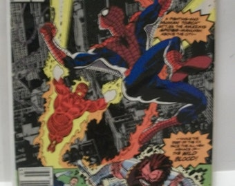 1992 The Fantastic Four #362 March Human Torch Battles Spider-Man Good Condition Vintage Marvel Comic Book