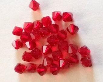Jewelry supplies red jewelry making beads 31ct diamond beads jewelry beads BB042