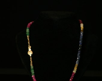 Faceted Multi-Colored Sapphire necklace