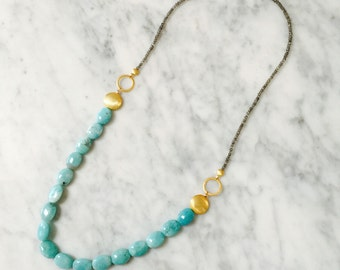 Amazonite & Labradorite Necklace N0073