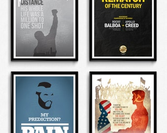 Special Offer Complete Rocky Movie Poster Series