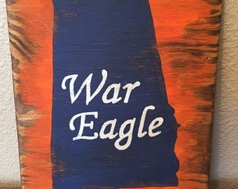 Rustic Auburn football decor