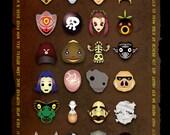 Legend of Zelda - Mask Collection Scroll