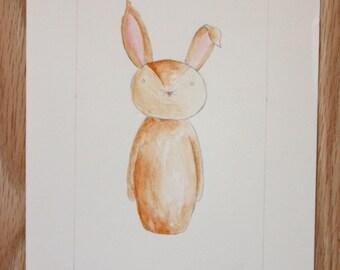 Little Rabbit- Original Watercolor Painting