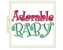 4x4 adorable baby embroidery design for matching mommy baby shirts