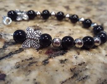 Midnight Butterflies Bracelet