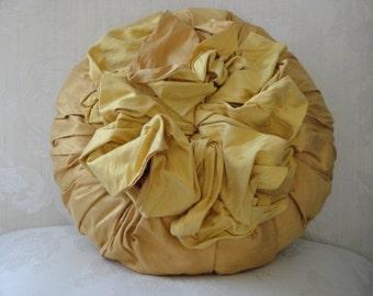 Flower Blossom Pillow - Sunflower Yellow