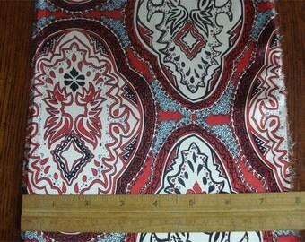 100% Silk Charmeuse Prints - Bandana Red