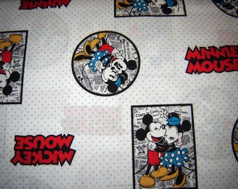 Disney Mickey News Framed Fabric