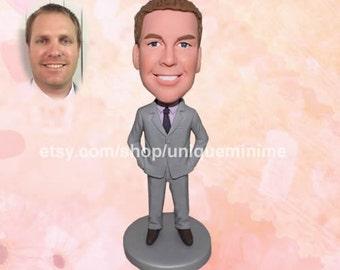 Personalized Groomsmen dolls as Groomsmen Gifts, Custom Figurine Bobblehead dolls - Custom Groomsmen Gifts