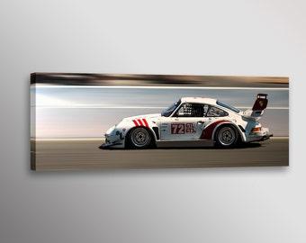 "Vintage Historic Porsche GTL GT3 Racecar Car Photo Automotive Wall Art Canvas Print 12""x36"" or 20""x60"""