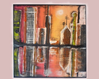 AraBilder / UNIQUE acrylic pictures painting art abstract acrylic painting