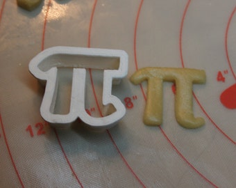 Pi Cookie and Fondant Cutter, 3D Printed