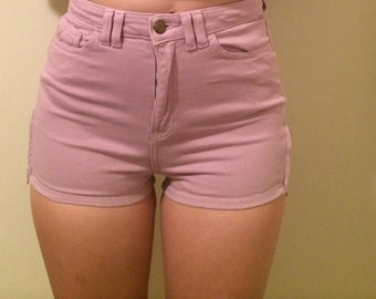 American Apparel purple high waisted shorts