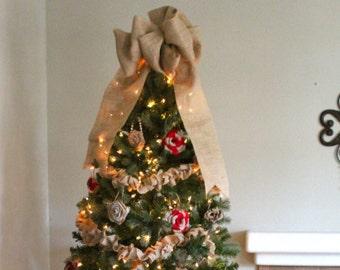 Burlap Christmas Tree Decorations