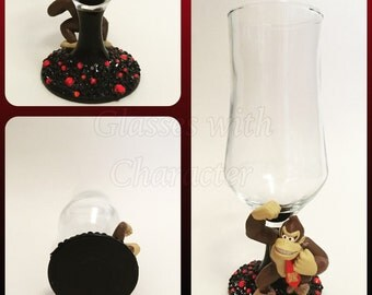 Donkey kong character beer glass