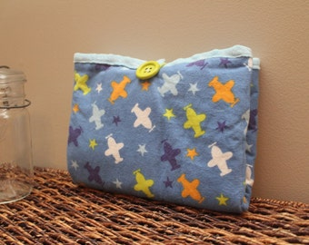 Travel Changing Pad, Diaper Changing Pad, Diaper Clutch, Baby Gift- PLANES