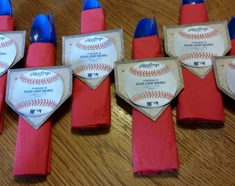 Set of 6 Baseball Birthday Party Tableware
