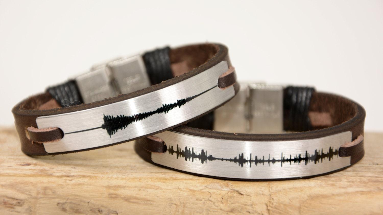 sound wave bracelets unisex bracelet leather by
