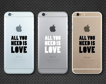 All you need is love iPhone decal - iPhone sticker