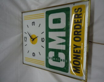 Vintage Consumers Money Orders Clock
