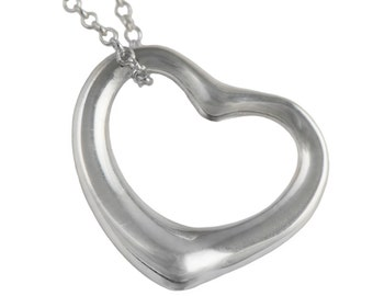 Silver Pendant and Chain - Heart
