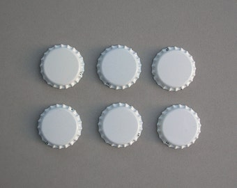 White Unflattened Bottle Caps