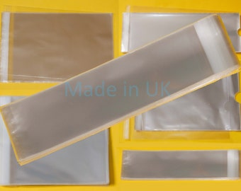 Tissue Bags 65mm x 115mm  - Cellophane Greeting Card Display Bags 30 Micron