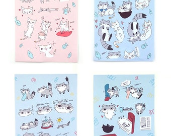 Coconut and Trusty the Cat Sticker Set
