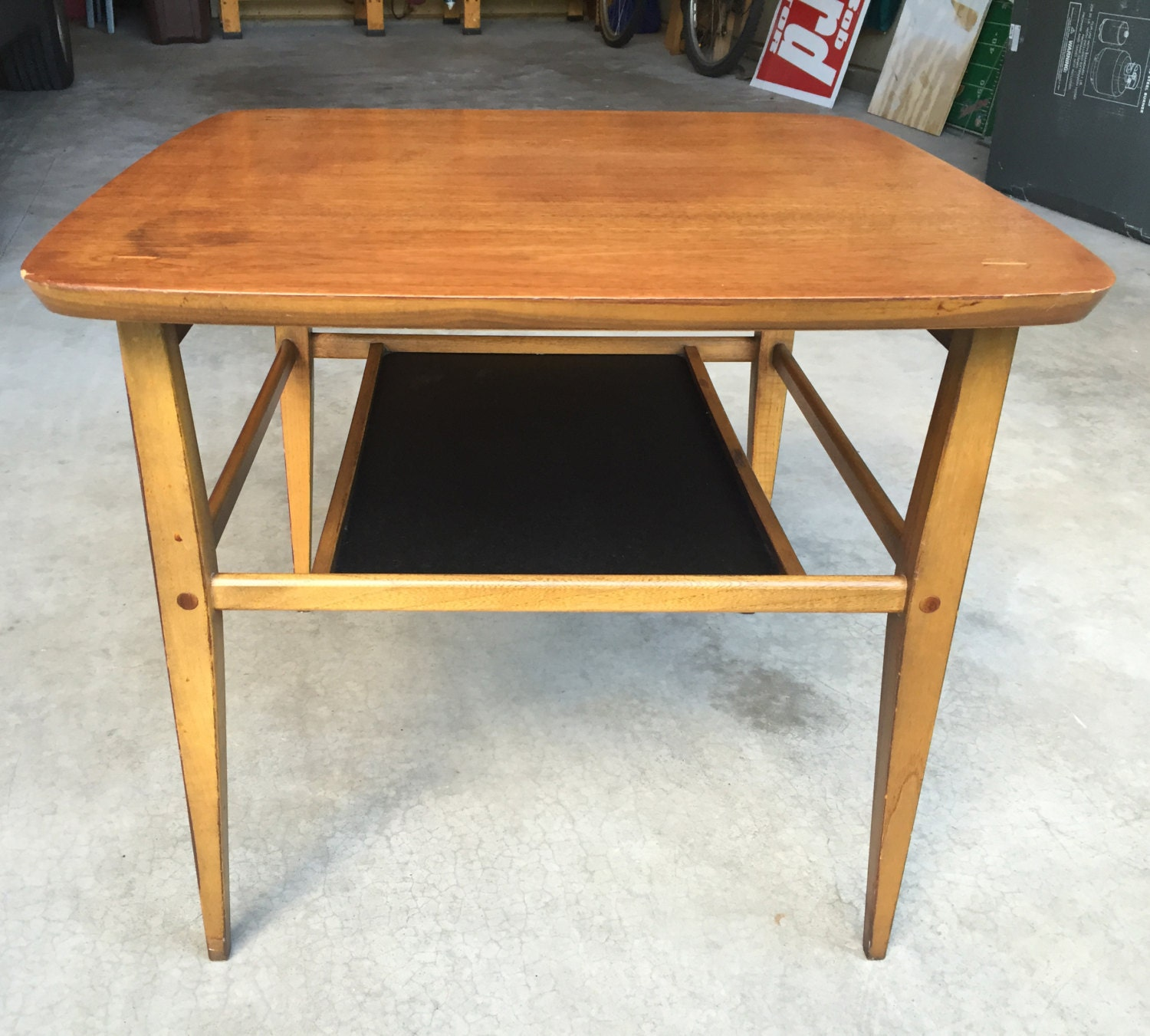 1950s Mid Century End Table By Lane Furniture: Mid Century Modern Side Table Lane Furniture Vintage Solid