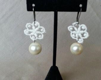 Beaded Lace Earrings