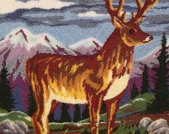 Webster Punch Needle Large A3 Size Highland Stag Punch Needle Embroidery Kit