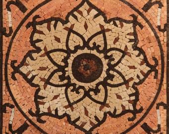 Abstract Geometrical Handmade Art Tile Stone Mural Design Marble Mosaic GEO2575
