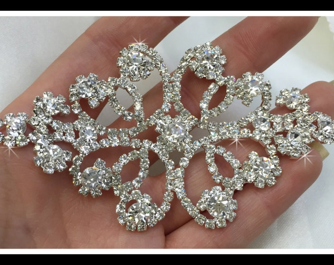 Rhinestone Applique/ Rhinestone Jewelry Applique/ Rhinestone Decoration/ Swarovski shine #0105