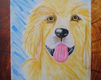 Dog *Original Watercolor Painting*