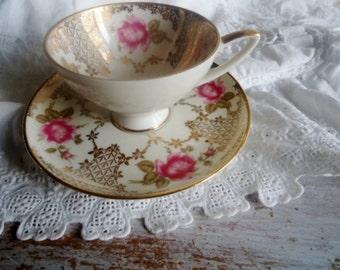 Porcelain Cup and saucer ,Baviera porcelain,Cup 1950, Alka-Kunst, Alboth & Kaiser porcelain