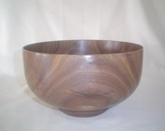 Native Kansas Walnut Wood Salad Bowl