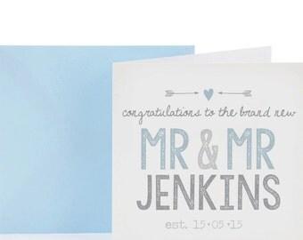 Mr & Mr Personalised Wedding Card