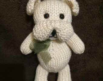 Rocky the Bulldog Puppy (KNITTING PATTERN)