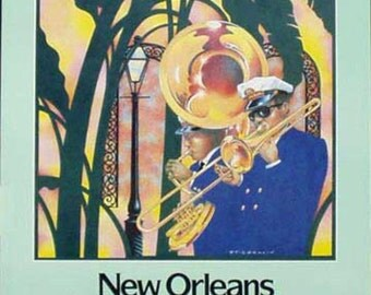 Delta Airlines Advertising Travel Poster-Jazz Band