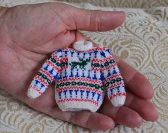 1/12th scale Minature Stag Jumper to Knit