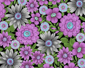 Floral Cotton Fabric. - 1 yard -